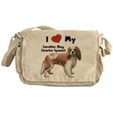 I Love My Cavalier Messenger Bag