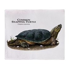 Common Snapping Turtle Throw Blanket