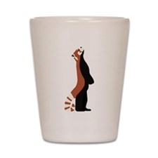 Standing Red Panda Shot Glass