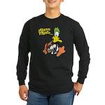 Walking Mallard Long Sleeve Dark T-Shirt