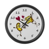 I love Mac and Cheese Large Wall Clock