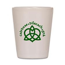 Celtic Love Knot Shot Glass