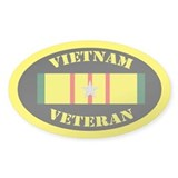 Vietnam Veteran 5 Campaign Stars Decal