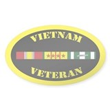 Vietnam Veteran 4 Campaign Stars Decal