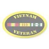 Vietnam Veteran 3 Campaign Stars Decal