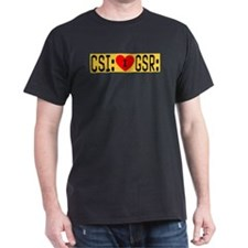 I LOVE CSI & GSR Black T-Shirt