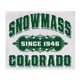 Snowmass Since 1946 Green Throw Blanket