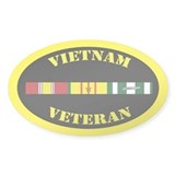 Vietnam Veteran 1 Campaign Star  Aufkleber