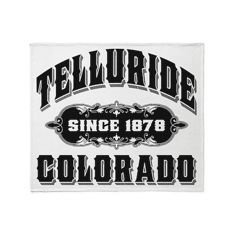 Telluride Since 1878 Black Throw Blanket