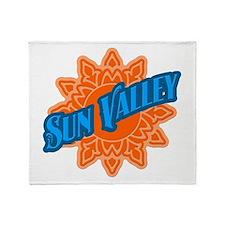 Sun Valley Orange Sun Throw Blanket