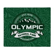 Olympic Forest Green Throw Blanket