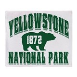Yellowstone Old Style Green Throw Blanket