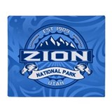 Zion Logo Cobalt Throw Blanket