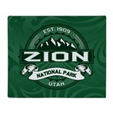 Zion Logo Forest Throw Blanket