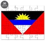 Antigua Barbuda Blank Flag Puzzle