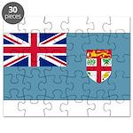 Fiji Fijian Blank Flag Puzzle