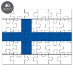 Finland Finish Blank Flag Puzzle
