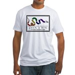 Rainbow JOIN, or DIE. Fitted T-Shirt