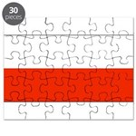 Poland Polish Blank Flag Puzzle