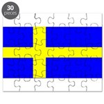 Sweden Blank Flag Puzzle