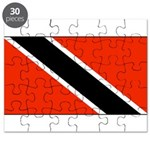 Trinidad Tobago Blank Flag Puzzle