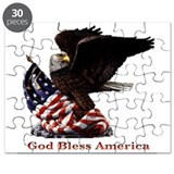 God Bless America Eagle Puzzle