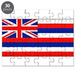 Hawaii Hawaiian Blank Flag Puzzle