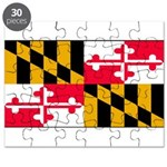 Maryland Blank Flag Puzzle