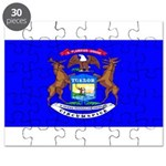 Michigan Blank Flag Puzzle