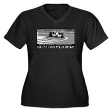 Cute Formula one Women's Plus Size V-Neck Dark T-Shirt