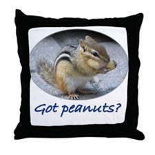 Got Peanuts? Throw Pillow