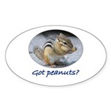 Got Peanuts? Oval Decal