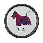 Terrier - Fraser of Reelig Large Wall Clock