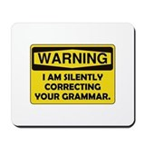 Warning english teacher Classic Mousepad
