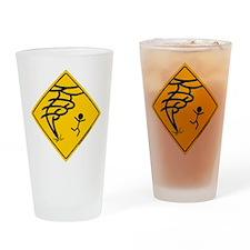 Tornado Warning Drinking Glass