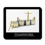 Teamwork motivational poster Mousepad