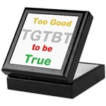 OYOOS Too Good to be True design Keepsake Box