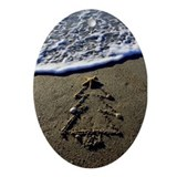 Beachwrite's Christmas Tree Ornament (Oval)