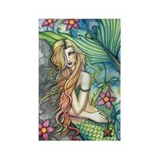 Colorful Mermaid Rectangle Magnet