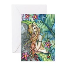 Colorful Mermaid Greeting Cards (Pk of 20)
