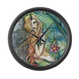 Colorful Mermaid Large Wall Clock