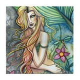Colorful Mermaid Tile Coaster
