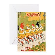 Bearings Art Nouveau Greeting Card