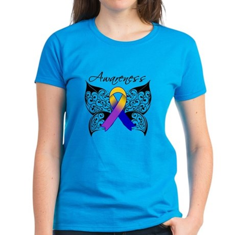 Bladder Cancer Awareness Women's Dark T-Shirt