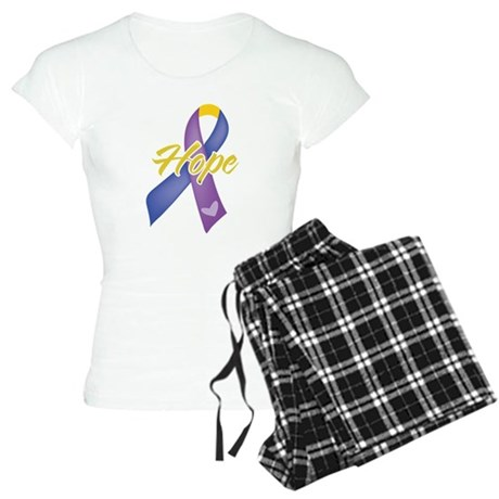 Hope Bladder Cancer Women's Light Pajamas