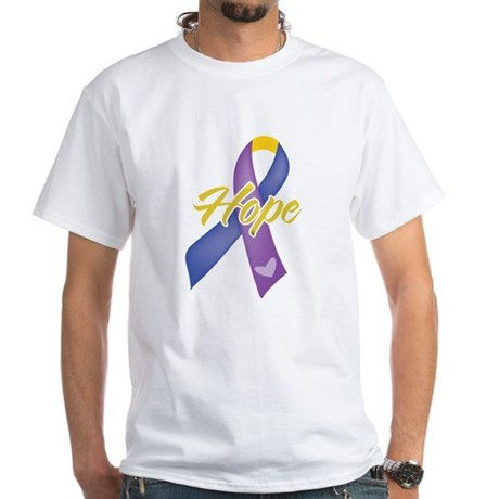 Hope Bladder Cancer White T-Shirt