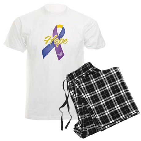 Hope Bladder Cancer Men's Light Pajamas