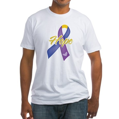Hope Bladder Cancer Fitted T-Shirt
