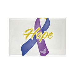Hope Bladder Cancer Rectangle Magnet (100 pack)