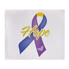 Hope Bladder Cancer Throw Blanket